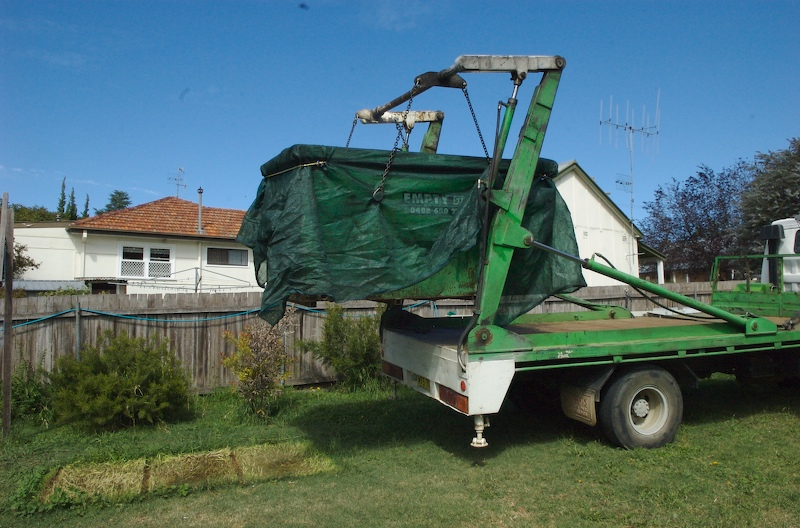 1st load of rubbish is removed