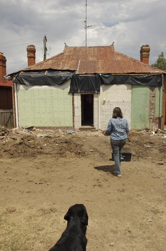 just the brick cottage remains