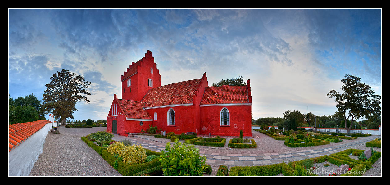 Red Church in Denmark