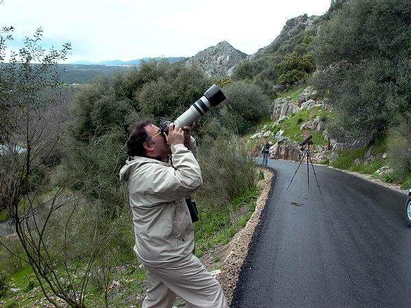 Rui Vilar taking pictures - Fotografiando en Monfragüe
