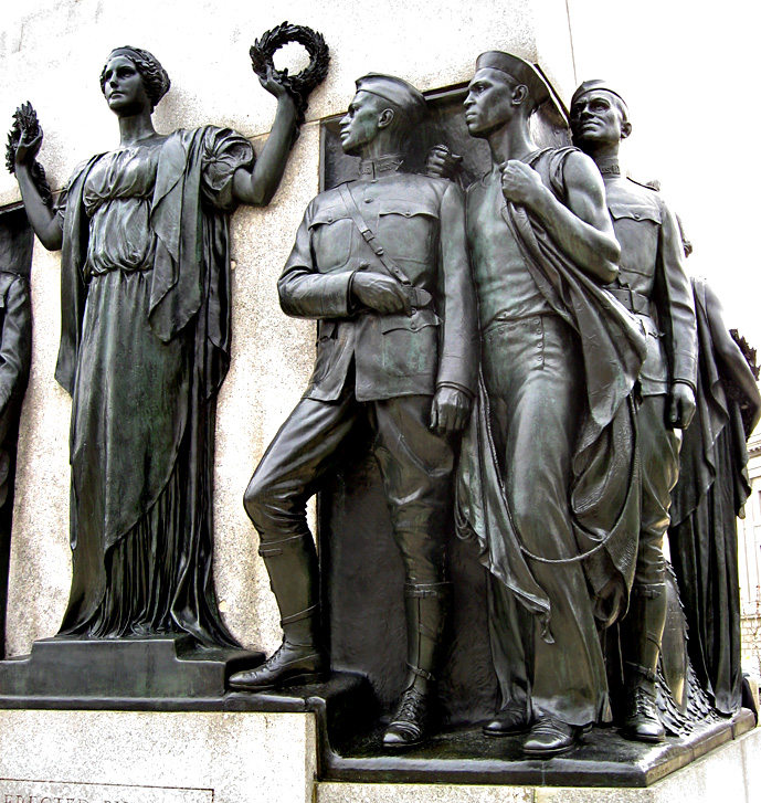 Colored Soldiers Memorial<br>West End of North Side