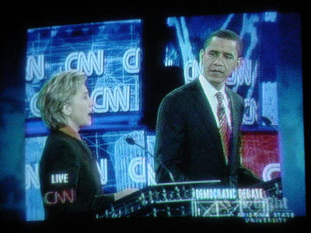 Clinton and Obama