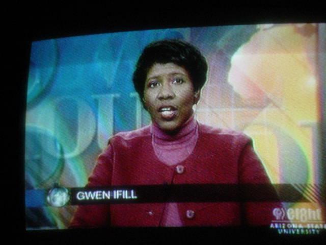 moderator Gwen Ifill