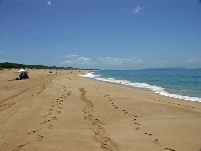 Barking sands (Polihale) beach