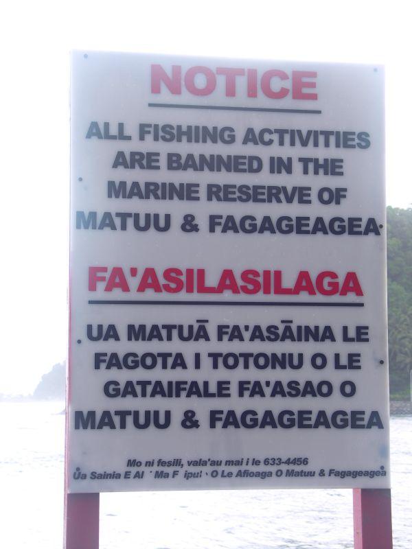 Fishing Banned