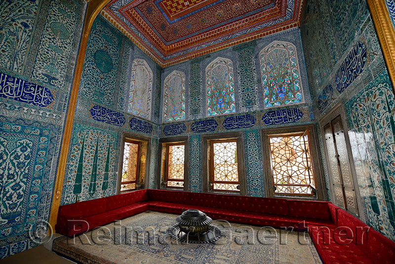Twin Pavilion Apartments Of The Crown Prince With Sofa And Iznik Tiles In Topkapi Palace