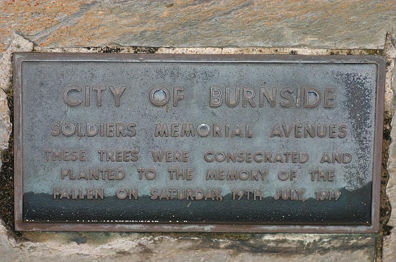 Anzac memorial plaque