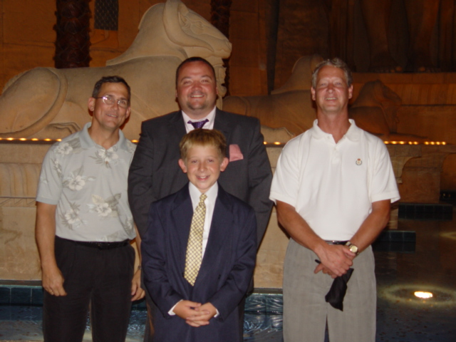 Me with new Brothers-in-law and stepson.
