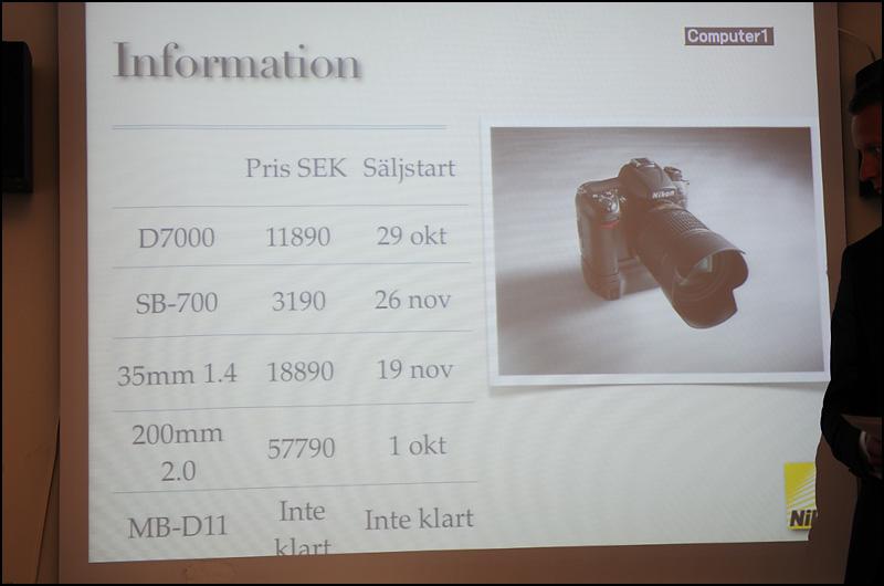 Nikon D7000 etc prices and sales start