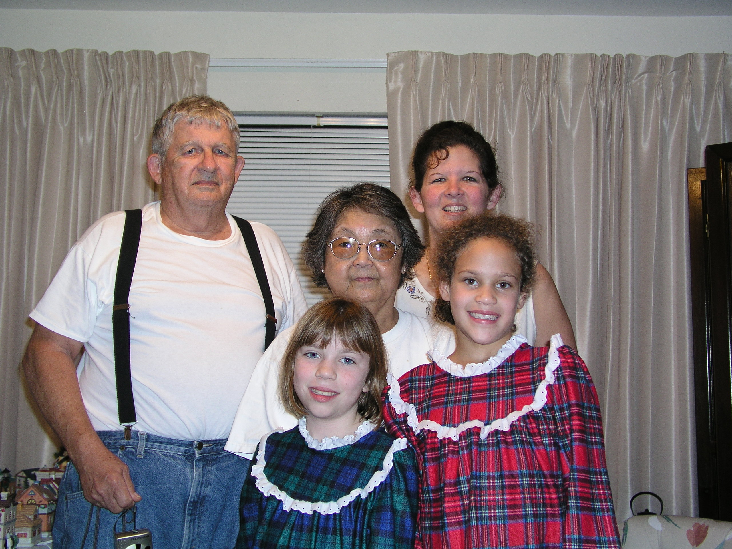 Pop, Grandma, Regina and Amanda and Emily