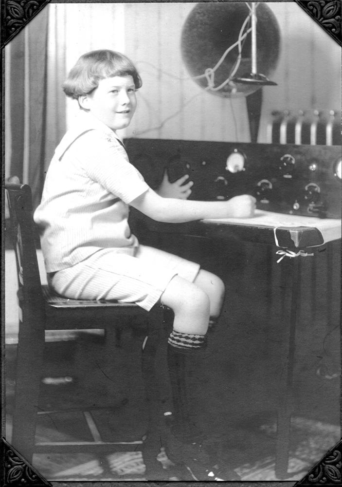 Bill Podlich at early radio