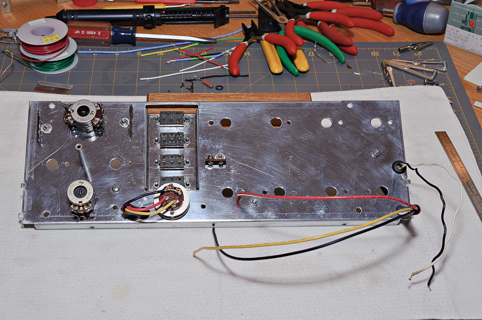 Harman Kardon Citation Tube Audio I Refurb Wiring The Front Panel End Result At This Stage Are Two Photos Below One From Each Side Of