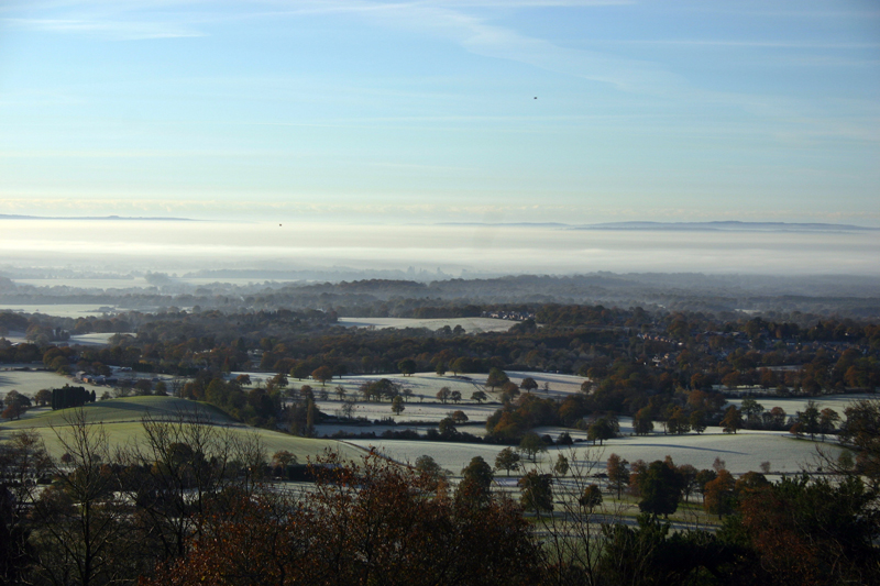 Misty Morning at Holmbury Hill 4