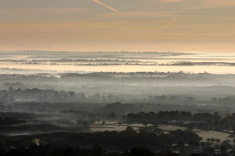 Misty Morning at Holmbury Hill  1