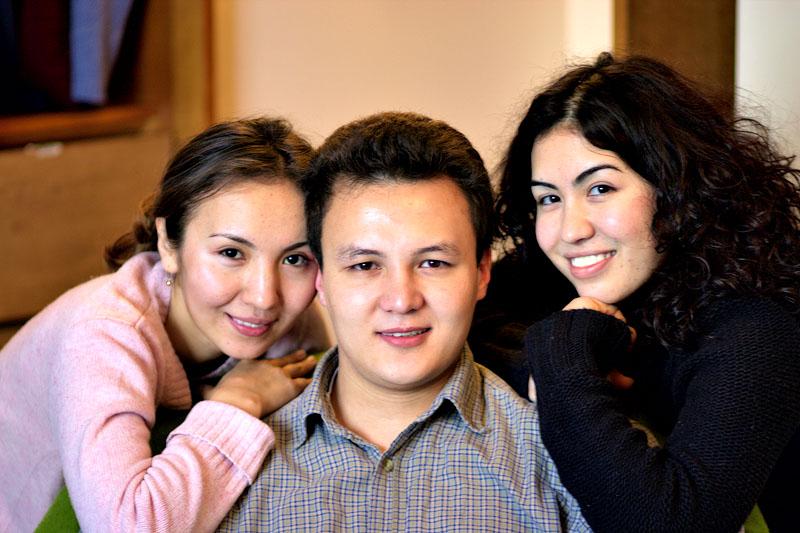 Talgat, Aijan and Zamria