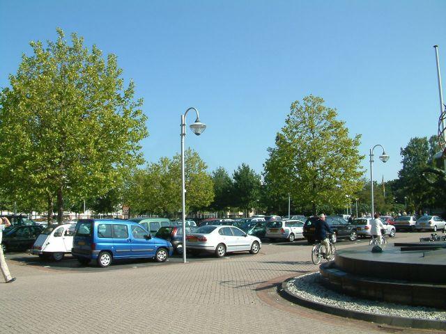 De parkeerplaats was vol