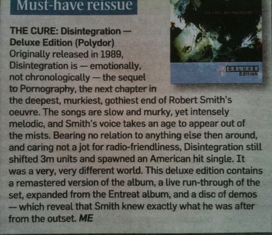 Disintegration review in the London Sunday Times.jpg