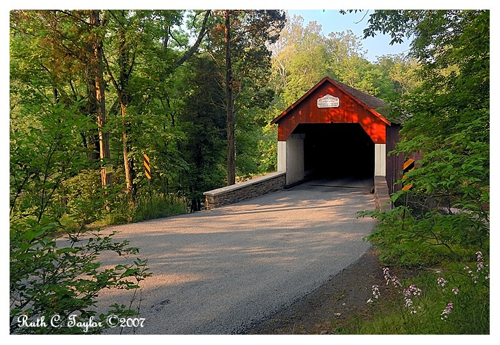 Summer Morning Along Frankenfield Covered Bridge