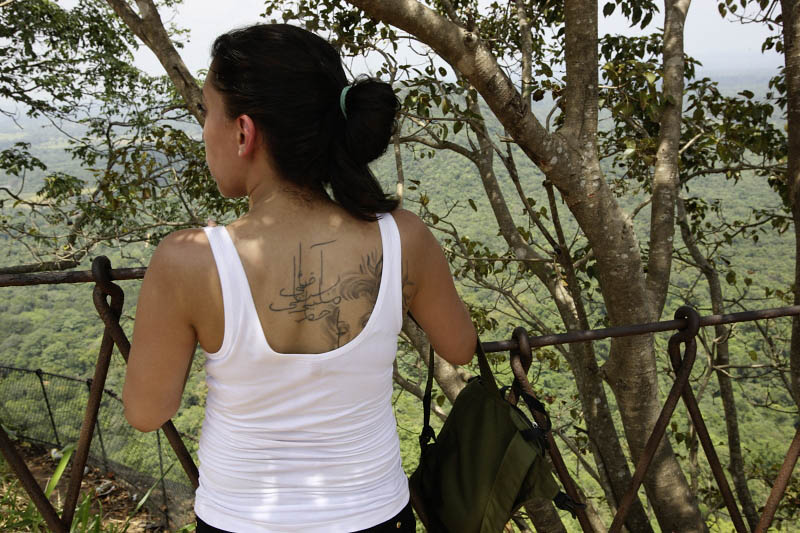 Sigiriya, graffiti girl