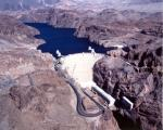 THE MIGHTY HOOVER DAM-LAKE MEAD IN THE BACKGROUND