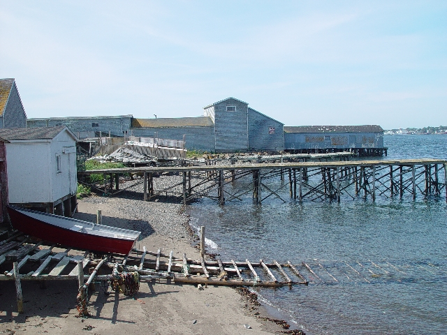 ONE OF THE WHARFS ON THE WAY TO THE WHALE WATCH