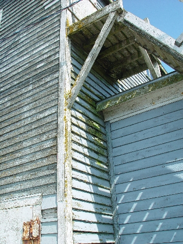 THE WOOD OF MOST BUILDINGS IS WEATHERED FROM THE SALT AND SEA BREEZES