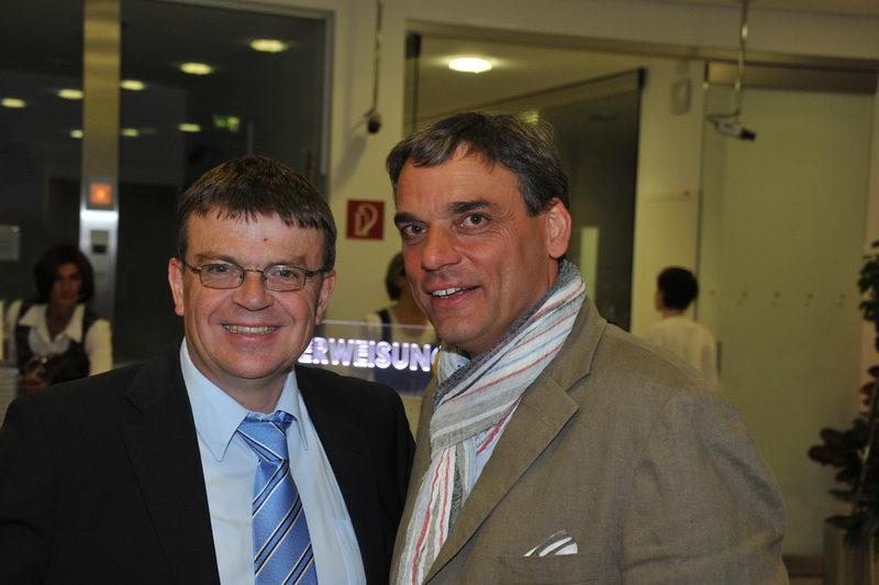 Anton Aichinger und Fritz Seier: Zwei halbe Hunderter im Gespraech und
