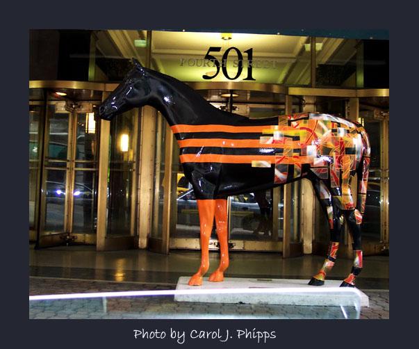 Horse Sponsored by Hillard Lyons.