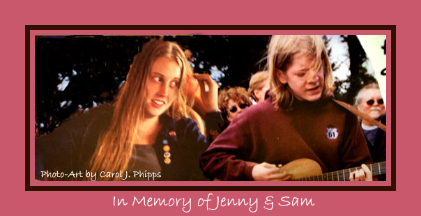 In Memory of Jenny and Sam.