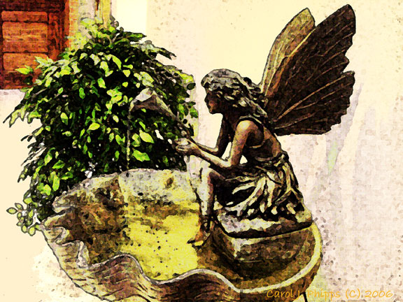 Fountain. Angel