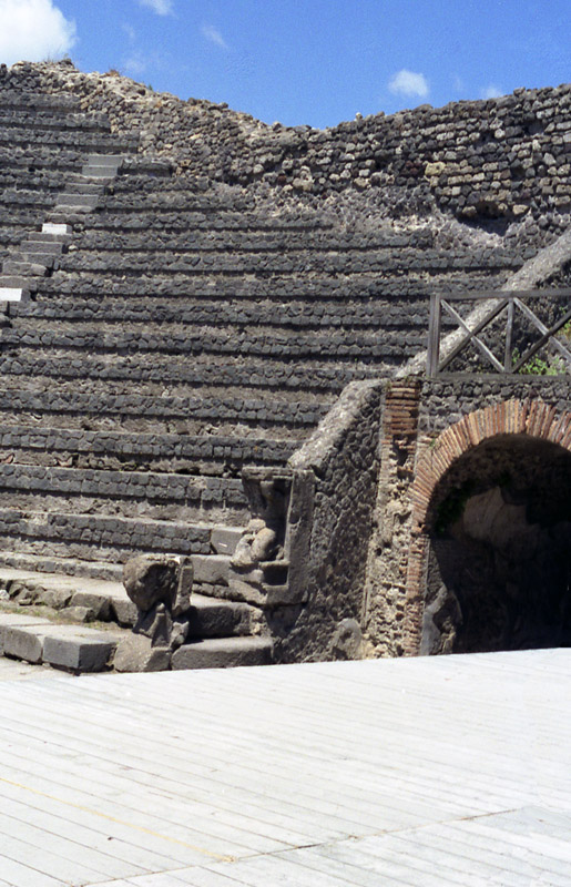 Pompei arena stairs