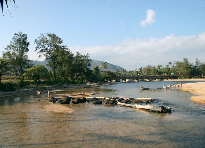 Wailua River meets the Pacific