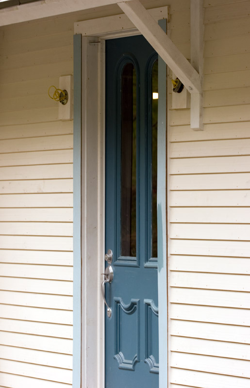 Front door with trim