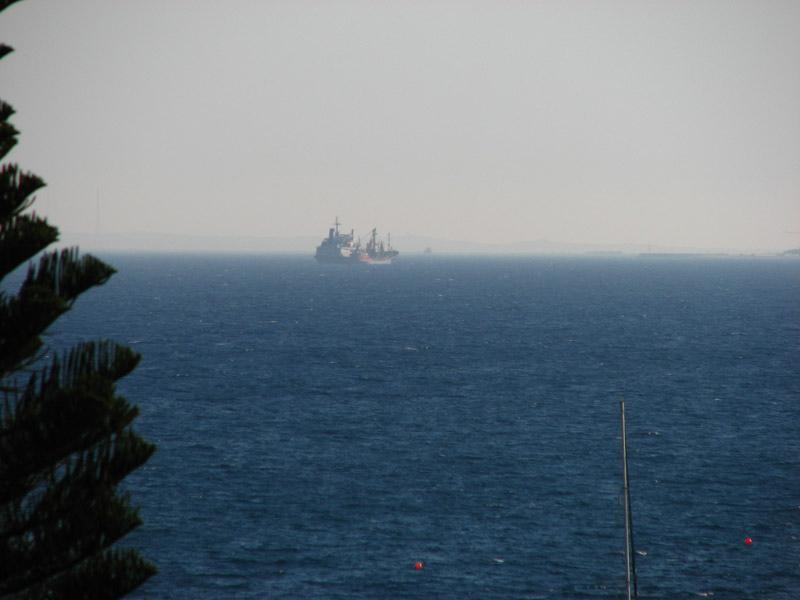 Phantom Ship in the distance