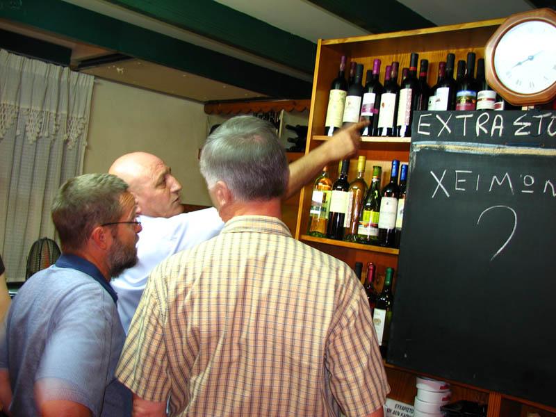 Picking the wine