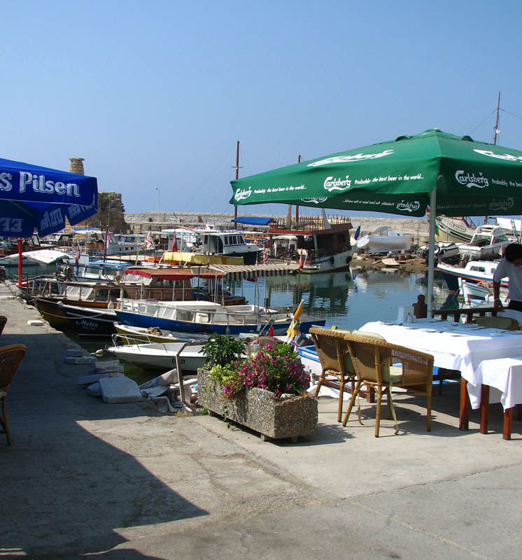 Quay with cafes