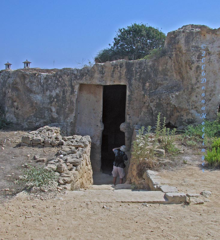 Peter in Tomb Entrance