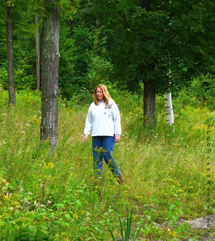Woods walk, Linda