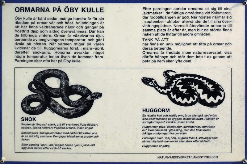 Skylt vid Öby kulle - Sign at Öby kulle