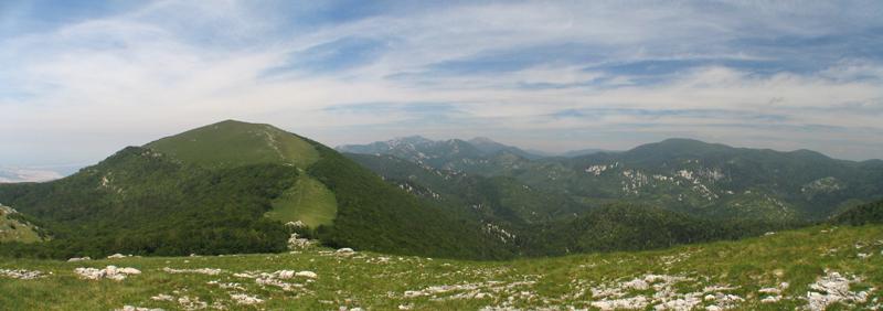 Central Velebit - Budakovo brdo and North Velebit  afar