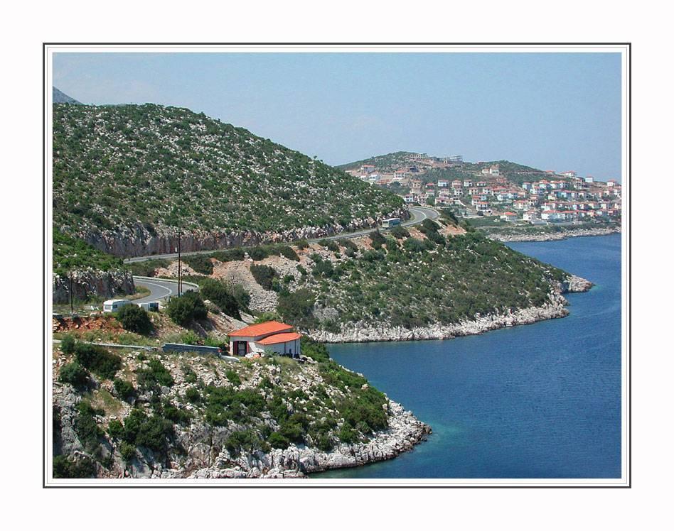 Route along the coastline
