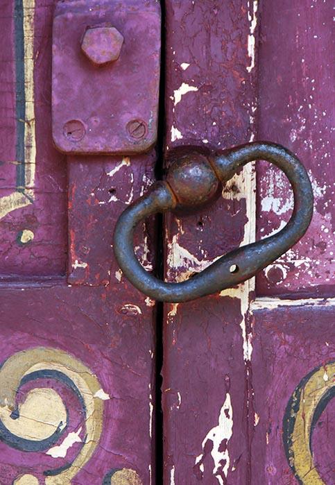 The magenta door