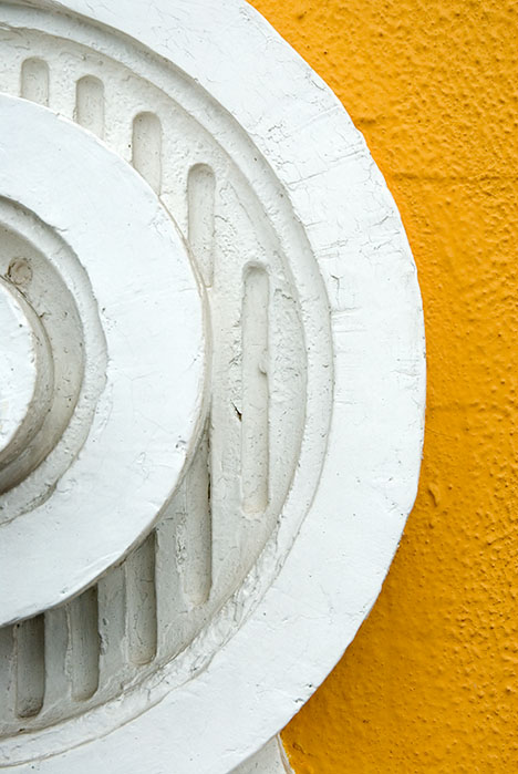 Half-circle in yellow background