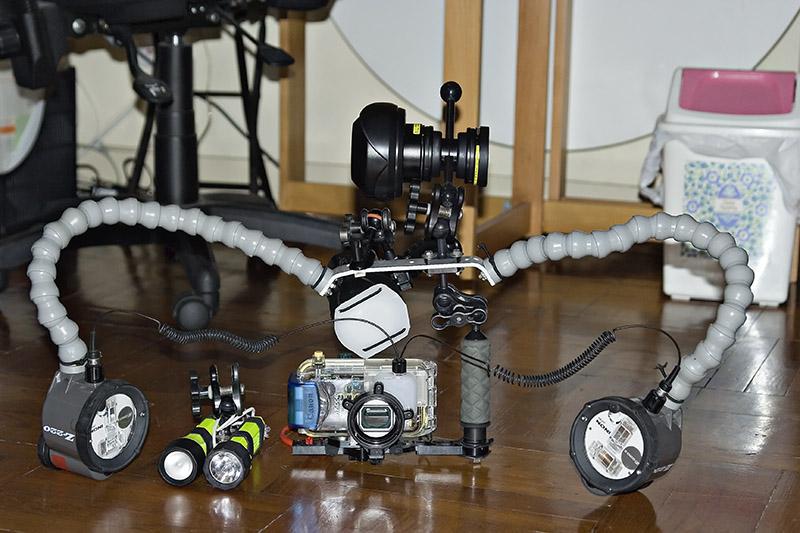 2006.04 Underwater camera setup