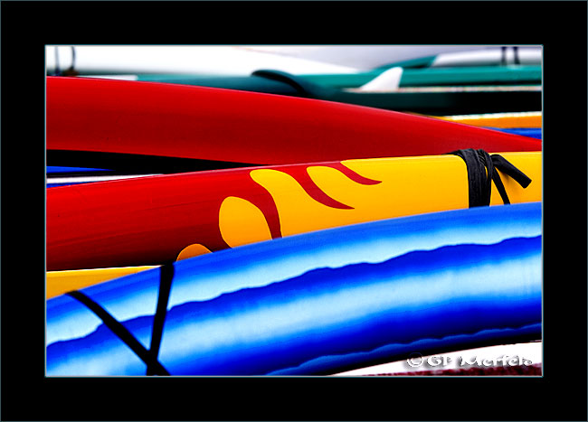 Canoes On The Pier