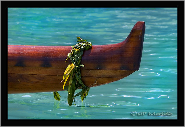Koa Canoe With Ti Lei