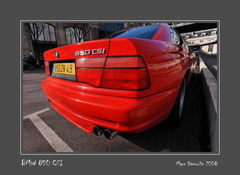 BMW 850 CSi Paris - France