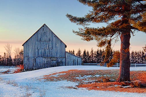 Barn At Sunrise 14526-7