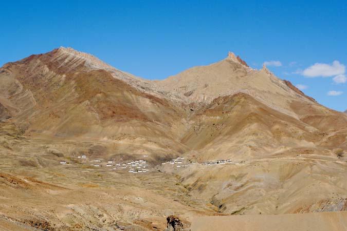Remote village on the way to Kibber Spiti