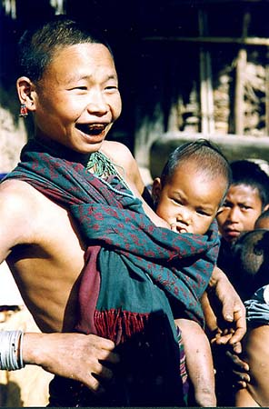 Young Wancho mother